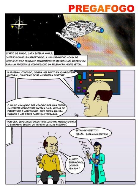 Quadrinhos de ficção científica e humor.