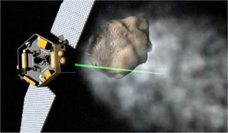 Um raio trator poderia simplificar muito o projeto das sondas e dos robôs espaciais, além de aumentar significativamente seu alcance. [Imagem: NASA]